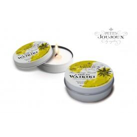 Массажная свеча Petits Joujoux Waikiki Beach с ароматом кокоса и ананаса - 33 гр.